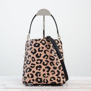 NWT Kate Spade Darcy Graphic Leopard Small Bucket